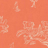 Andrew Martin Wychwood  Melon Orange Wallpaper