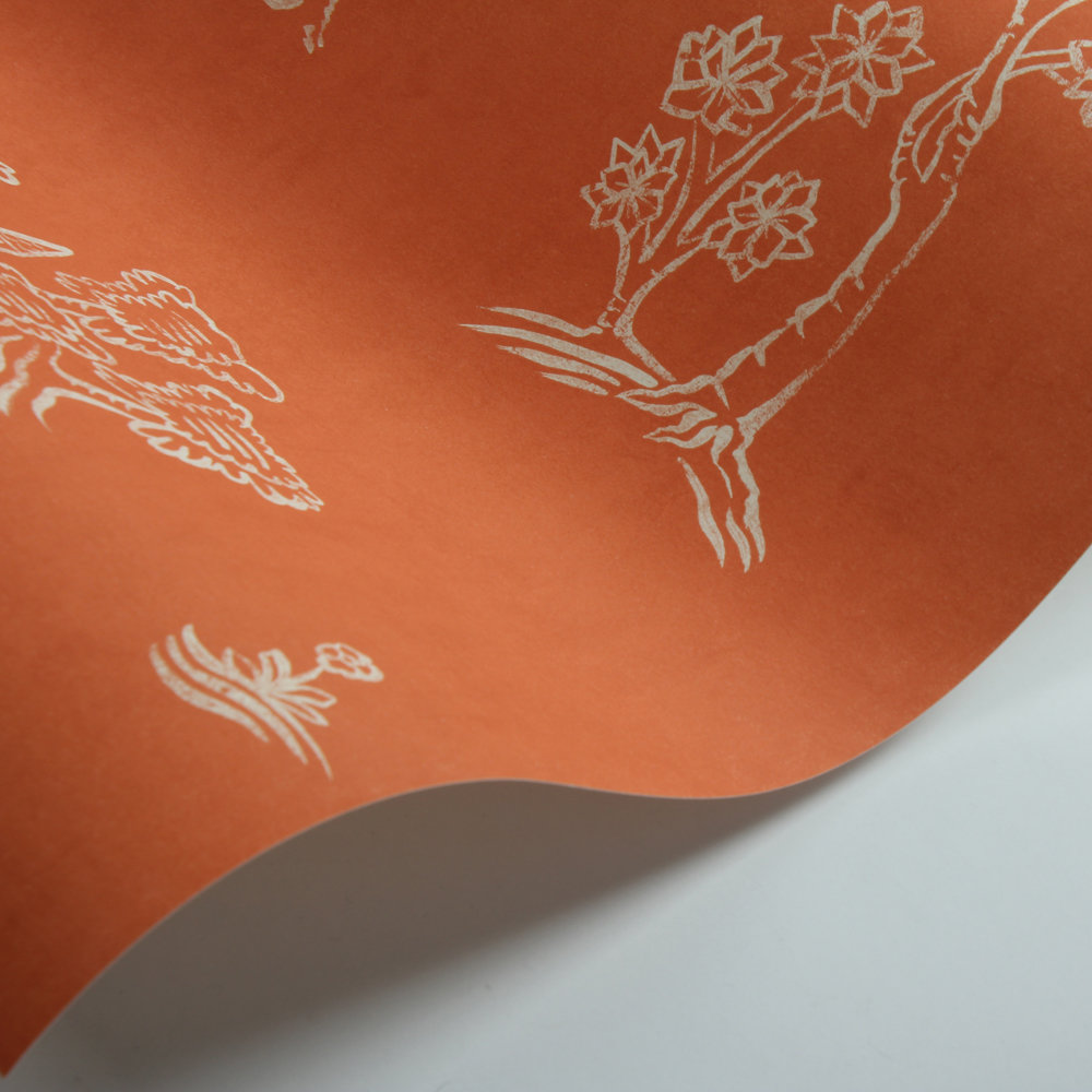 Andrew Martin Wychwood  Melon Orange Wallpaper - Product code: WY05-MELONORANGE