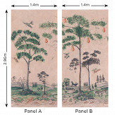 Andrew Martin Mythical Land Setting Plaster Mural - Product code: ML01-SETTINGPLASTER