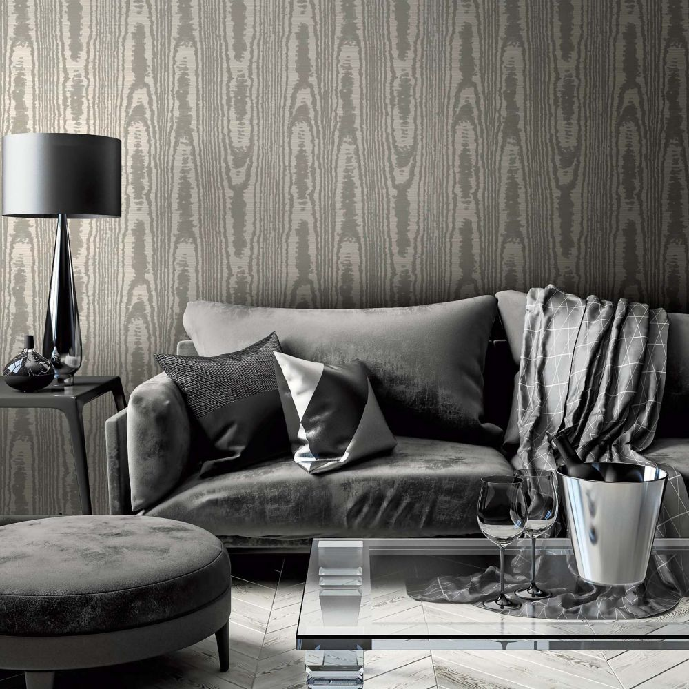 SketchTwenty 3 Moire Taupe Wallpaper - Product code: SO00926
