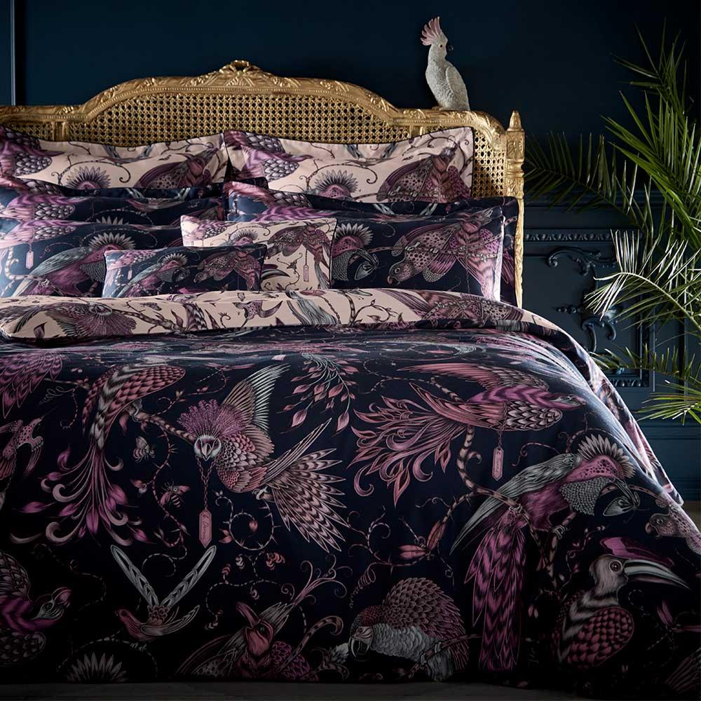 Emma J Shipley Audubon Duvet Cover Navy/ Pink - Product code: M0019/01/SK
