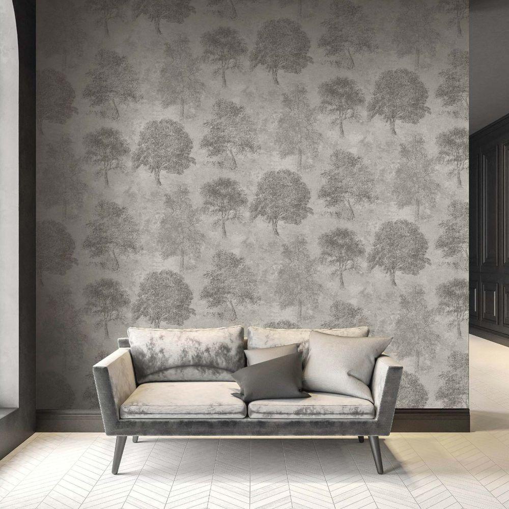 Sherwood Wallpaper - Smoke Grey - by SketchTwenty 3