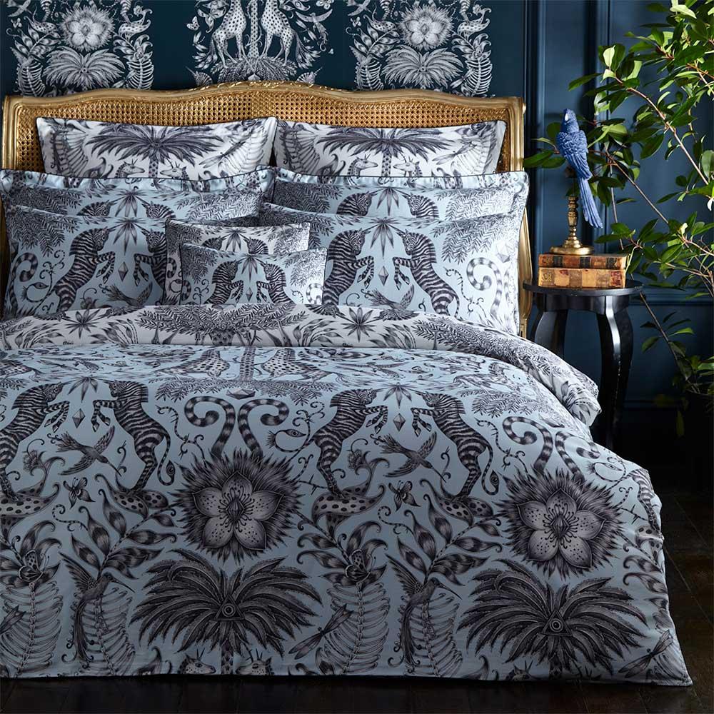 Clarke & Clarke Kruger Boudoir Pillowcase  White - Product code: M2063/02