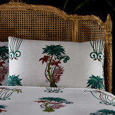 Clarke & Clarke Jungle Palms Standard Pillowcase Pair Green/ Pink - Product code: M2055/01