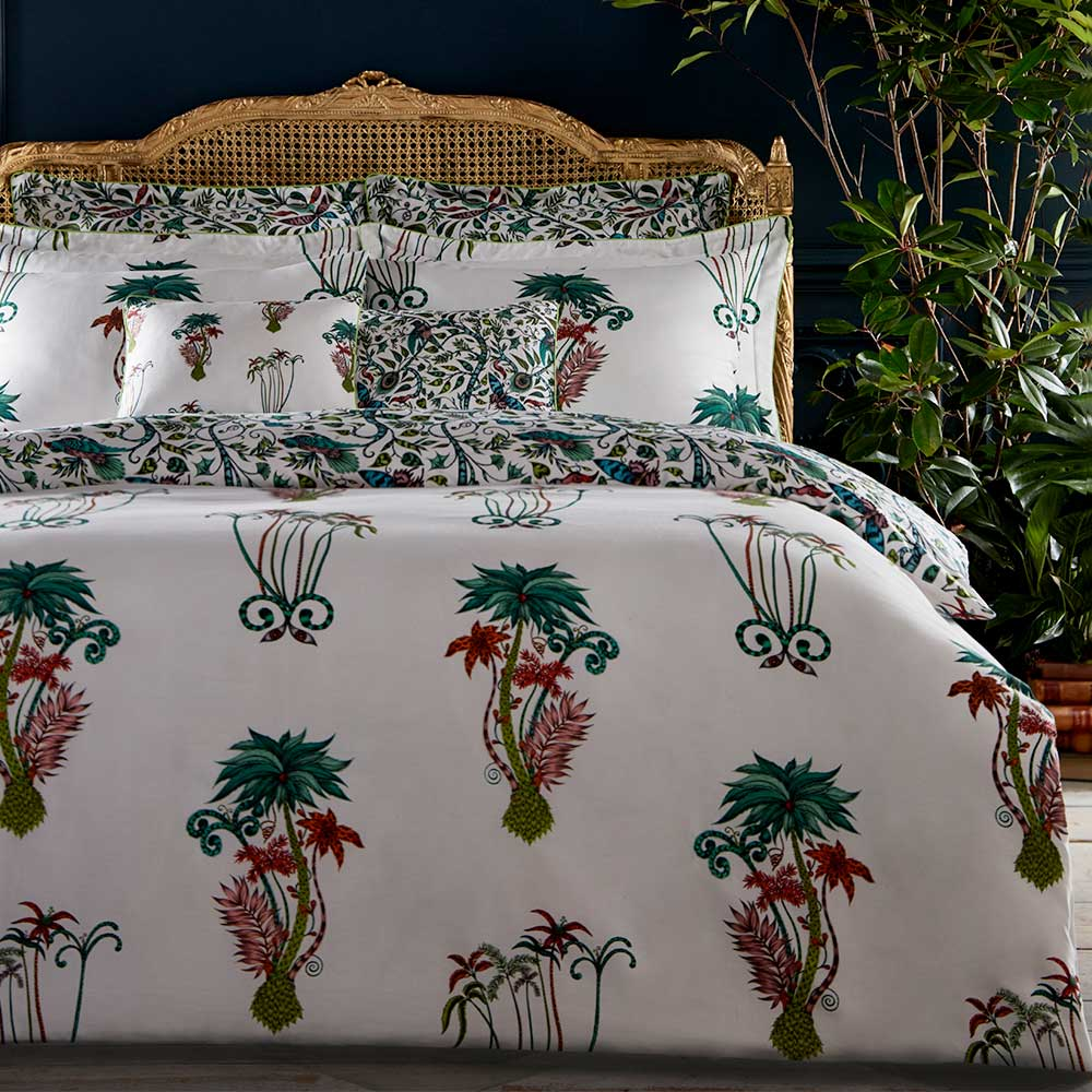 Emma J Shipley Jungle Palms Square Oxford Pillowcase  Multi-coloured - Product code: M2068/01