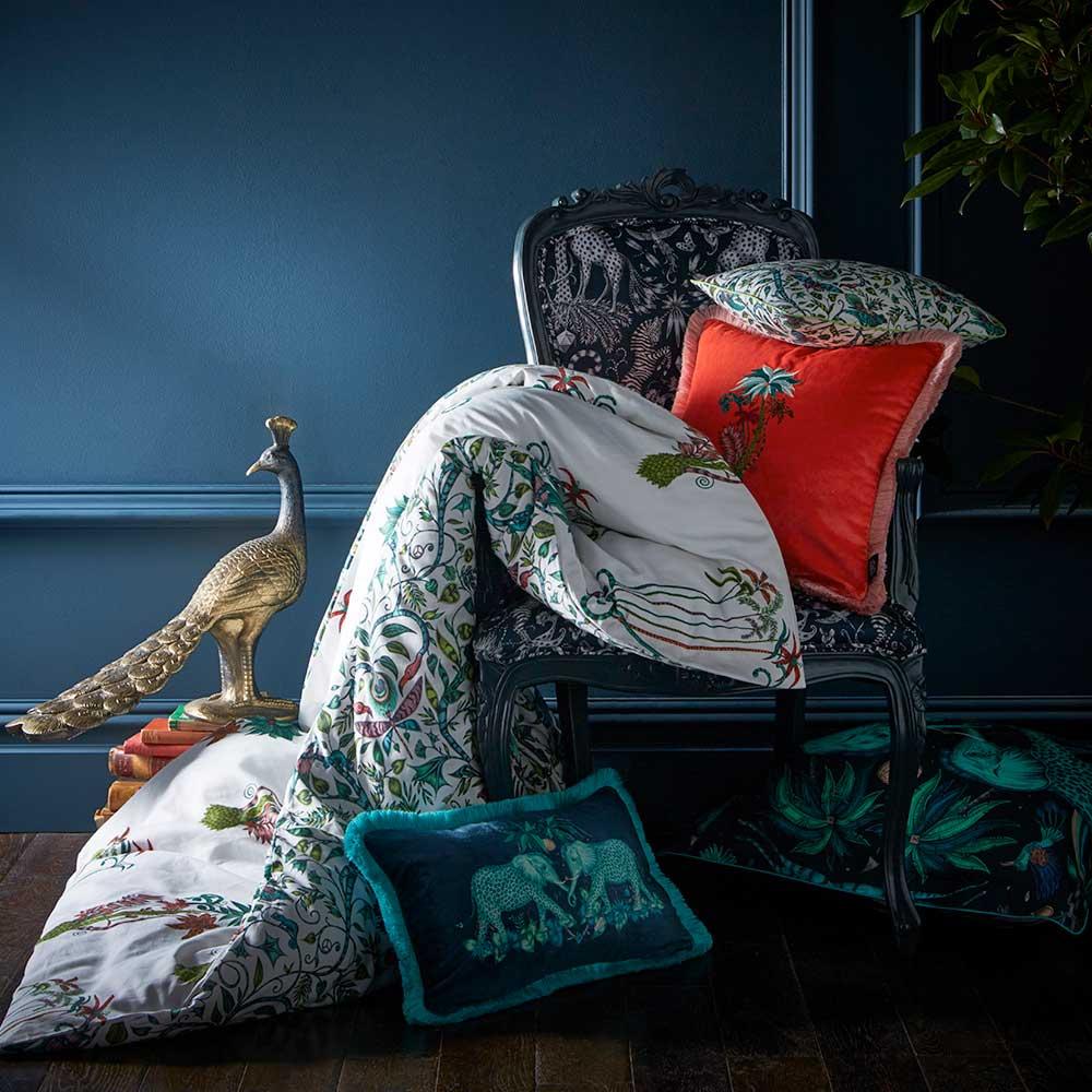 Jungle Palms Boudoir Pillowcase  - Multi-coloured - by Emma J Shipley