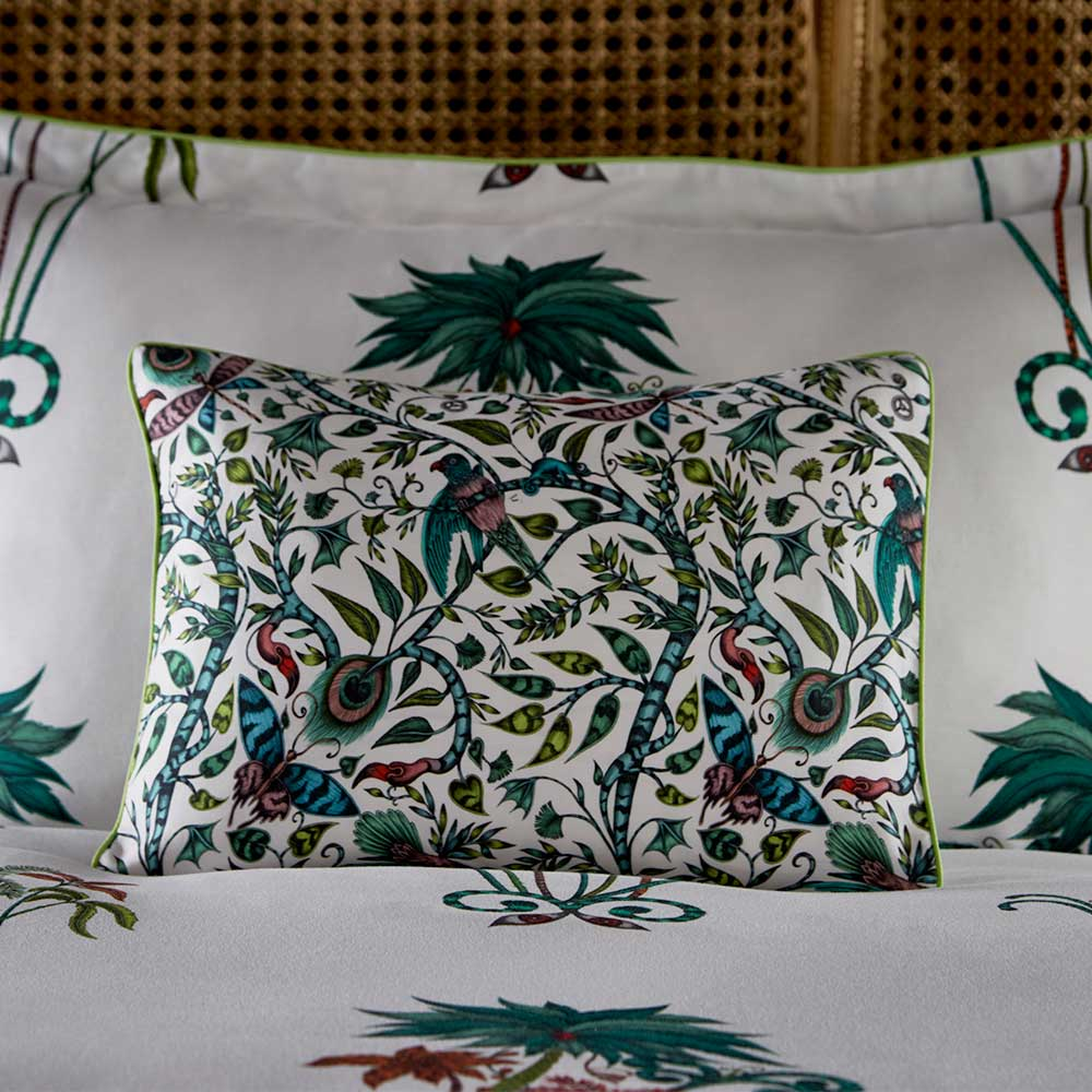 Emma J Shipley Jungle Palms Boudoir Pillowcase  Multi-coloured - Product code: M2066/02