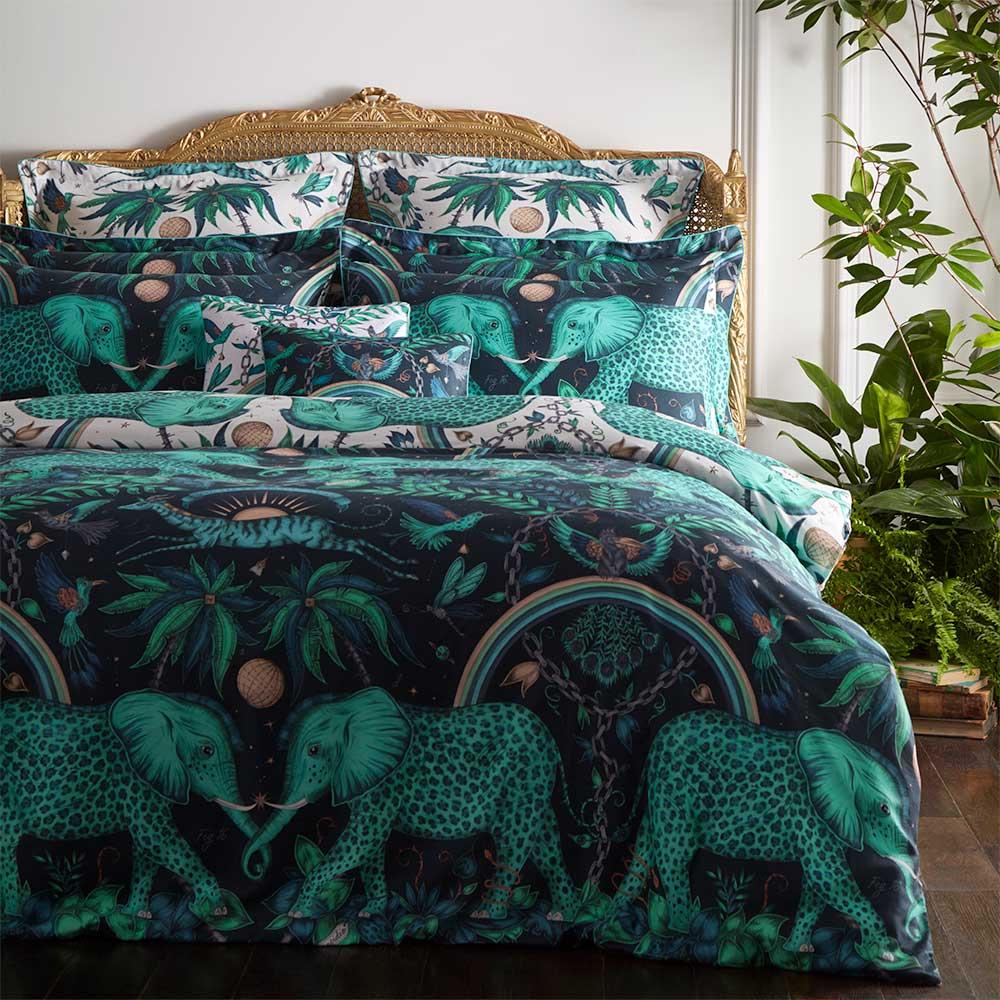 Emma J Shipley Zambezi Duvet Cover Teal/ Navy - Product code: M0022/01/KS