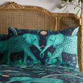 Clarke & Clarke Zambezi Standard Pillowcase Pair Teal/ Navy - Product code: M2056/01