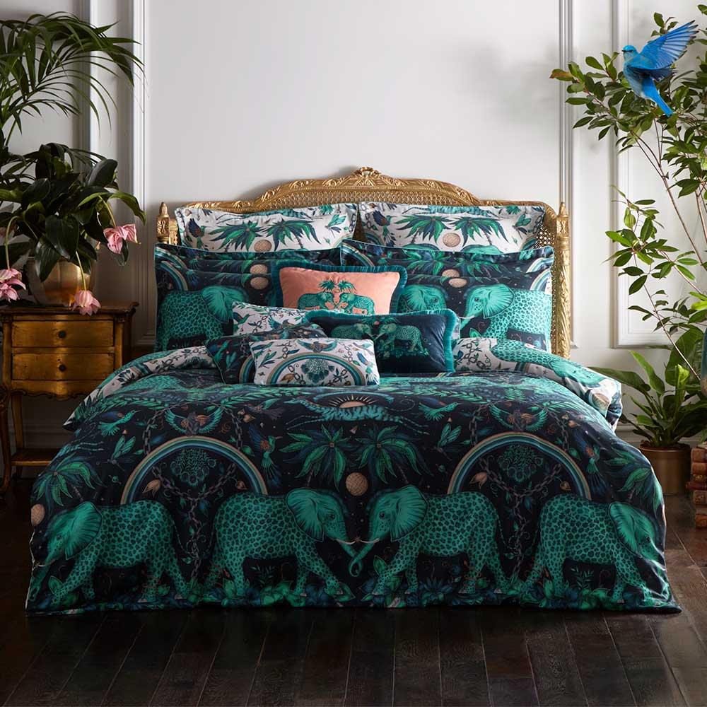 Emma J Shipley Zambezi Standard Pillowcase Pair Teal/ Navy - Product code: M2056/01