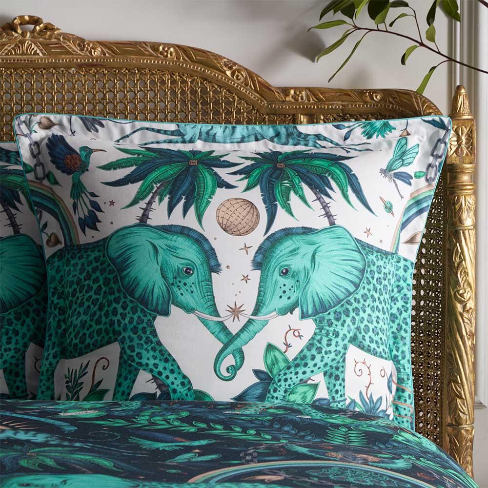 Emma J Shipley Zambezi Square Oxford Pillowcase  Teal/ Navy - Product code: M2071/01