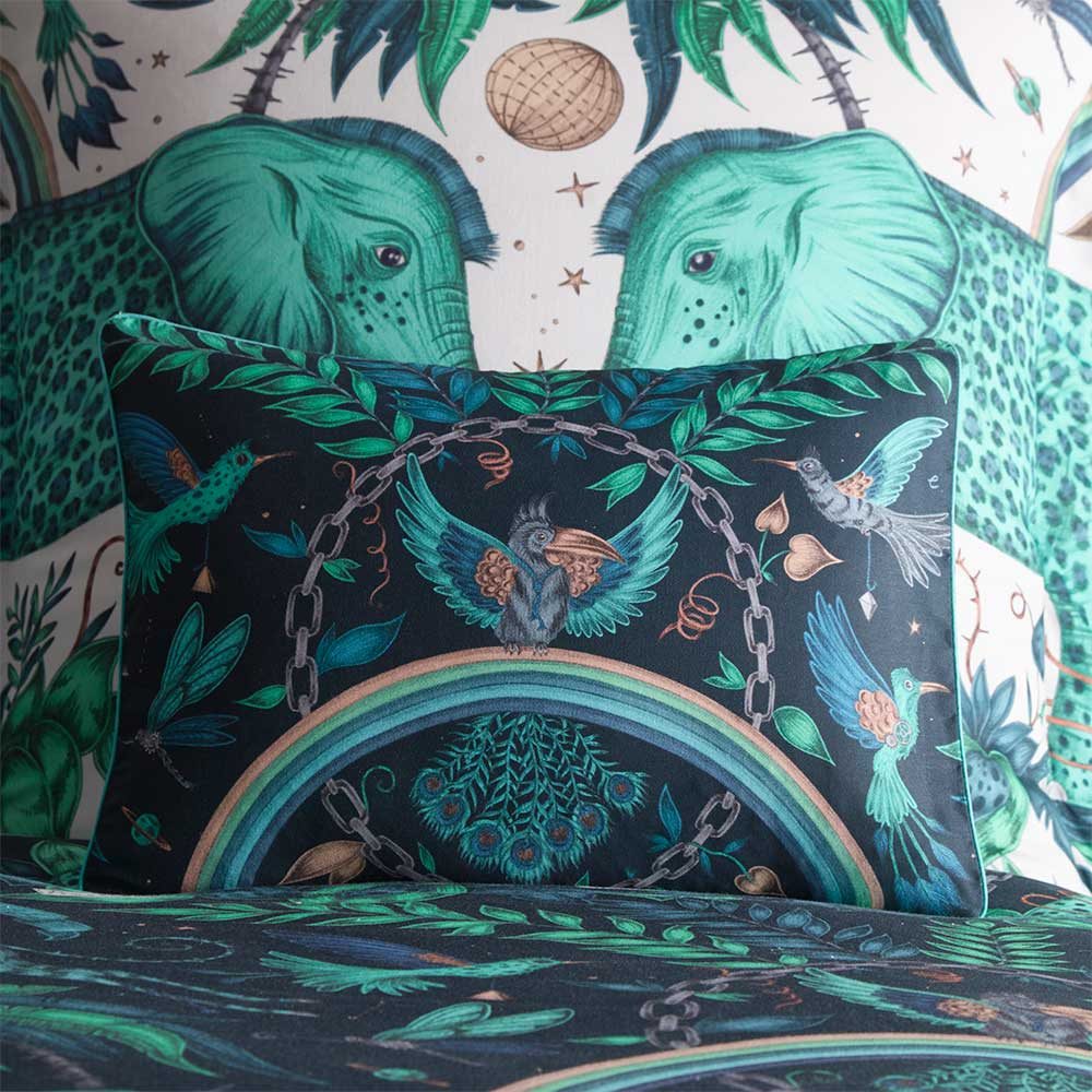 Clarke & Clarke Zambezi Boudoir Pillowcase  Teal - Product code: M2069/01