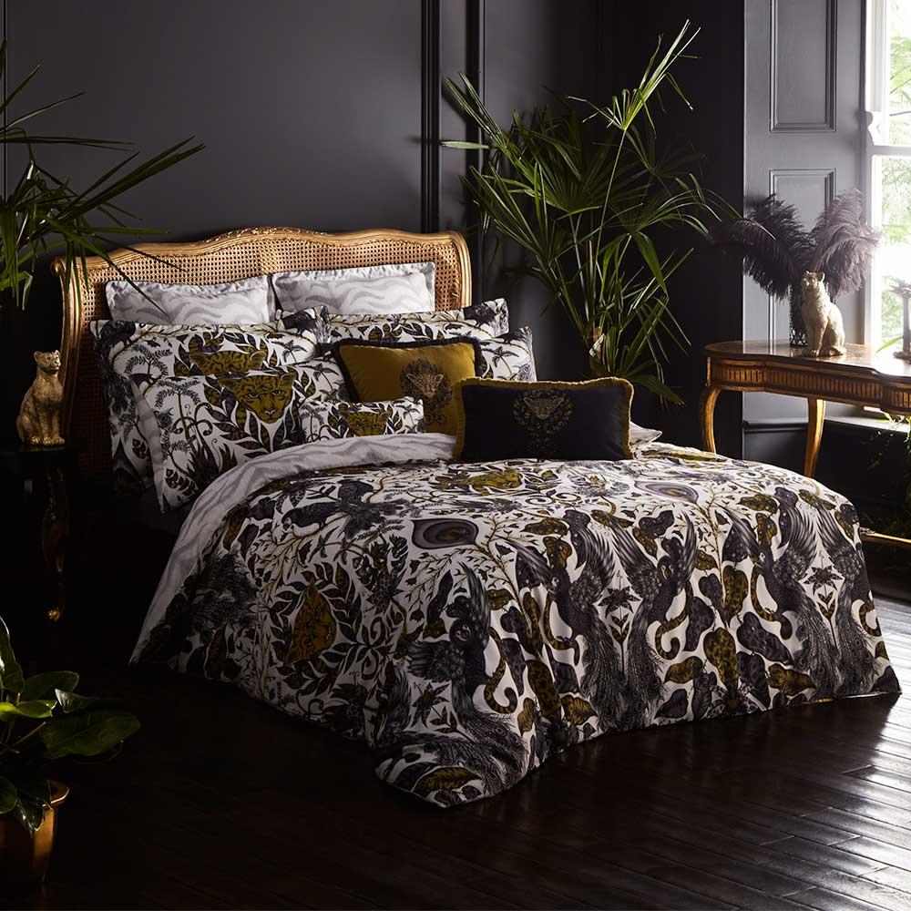 Amazon Oxford Pillowcase - Gold - by Emma J Shipley