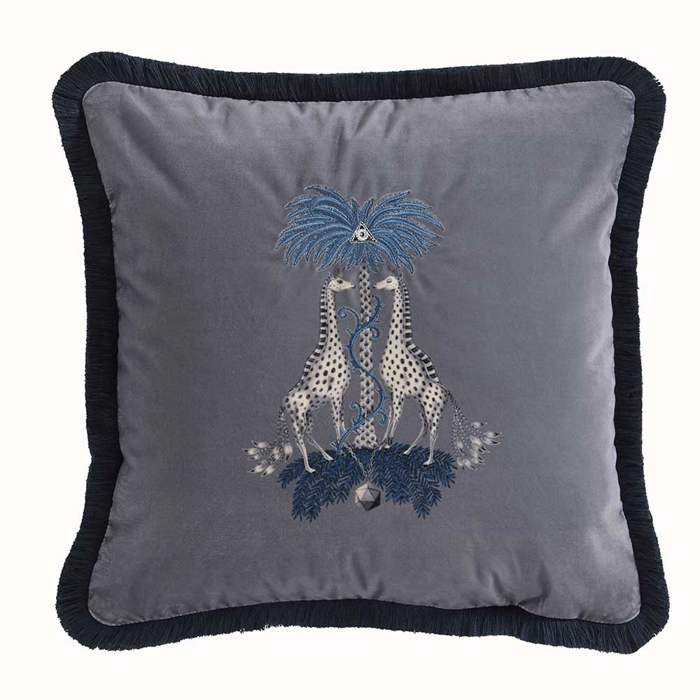 Emma J Shipley Kruger Square Cushion Mid Grey - Product code: M2049/01