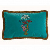 Emma J Shipley Jungle Palms Rectangular Cushion Teal - Product code: M2050/02