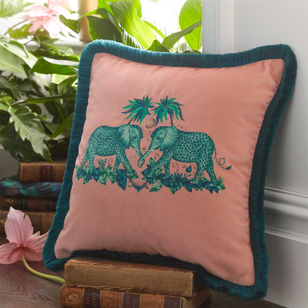 Emma J Shipley Zambezi Square Cushion Peach - Product code: M2051/01