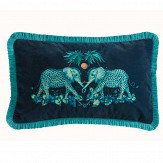 Clarke & Clarke Zambezi Rectangular Cushion Teal - Product code: M2051/02