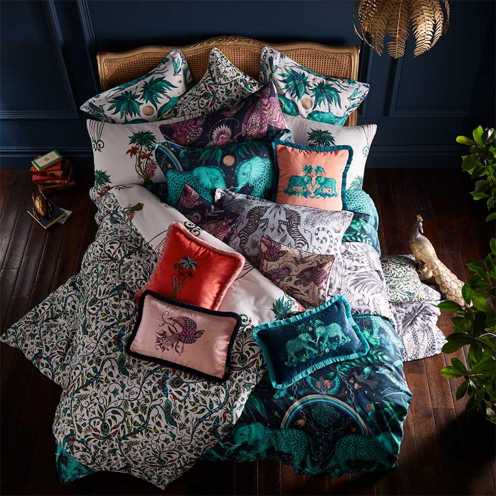 Zambezi Rectangular Cushion - Teal - by Emma J Shipley