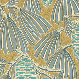 Harlequin Foxley Kingfisher/ Gold Wallpaper - Product code: 112127