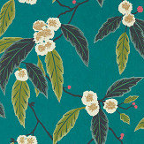 Harlequin Coppice Peacock/ Azalea/ Midnight Wallpaper - Product code: 112132