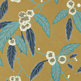 Harlequin Coppice Navy/ Lagoon/ Gold Wallpaper - Product code: 112133