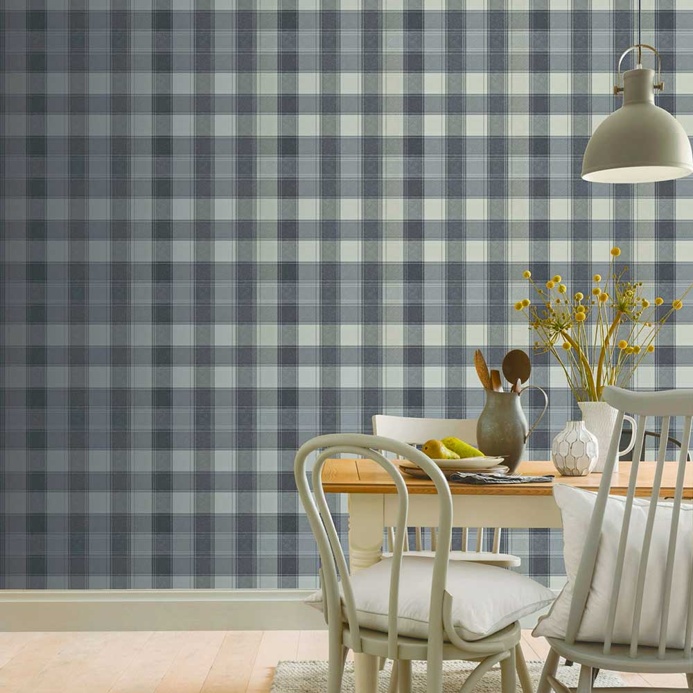 Arthouse Urban Check Charcoal Wallpaper - Product code: 904100