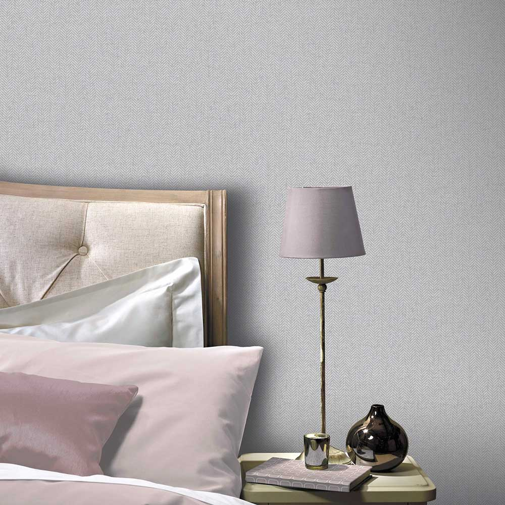 Arthouse Herringbone Grey Wallpaper - Product code: 904205