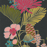 Harlequin Salon Ebony/ Azalea/ Fern Wallpaper - Product code: 112153