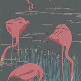 Harlequin Salinas Ebony/ Coral/ Lagoon Wallpaper - Product code: 112156