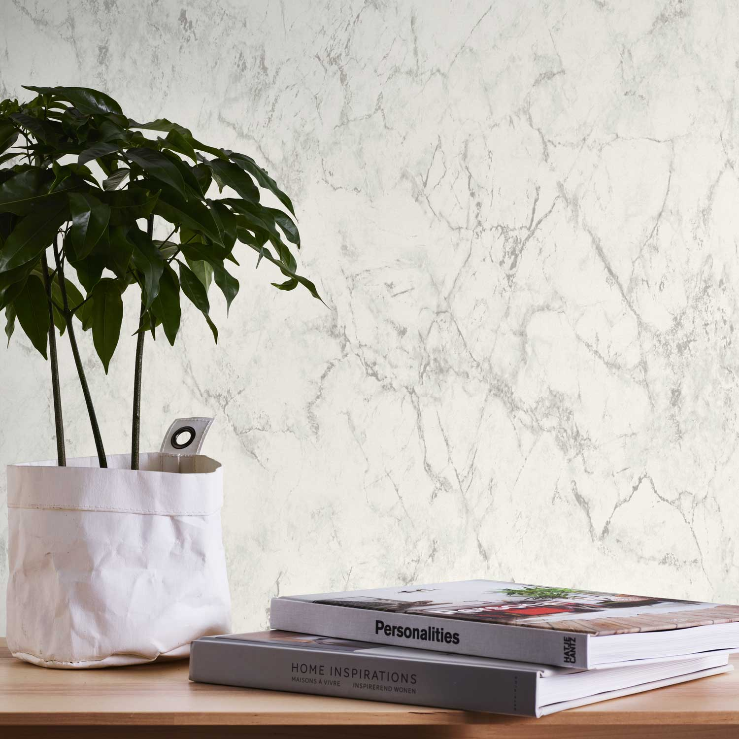 Marble Wallpaper - Grey - by Albany