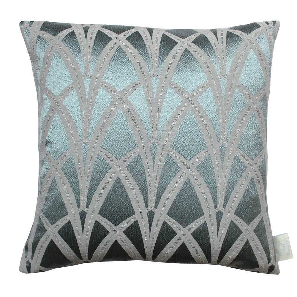 The Chateau Broadway Cushion - Azure - by The Chateau by Angel Strawbridge