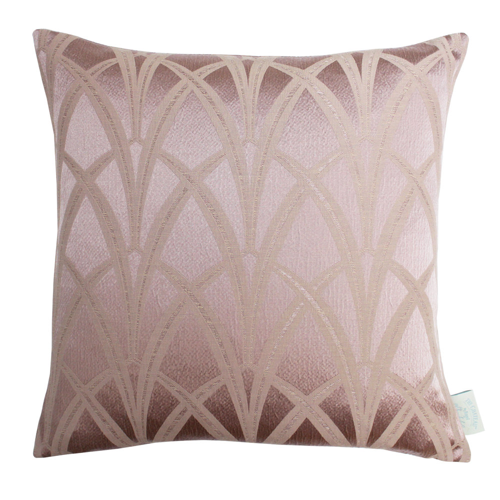 The Chateau Broadway Cushion - Blush - by The Chateau by Angel Strawbridge