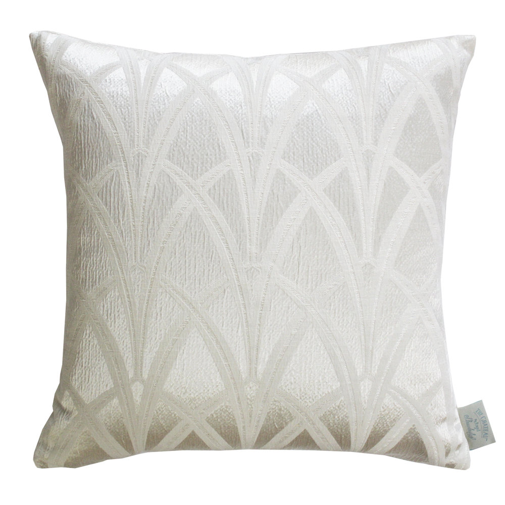 The Chateau Broadway Cushion - Ivory - by The Chateau by Angel Strawbridge