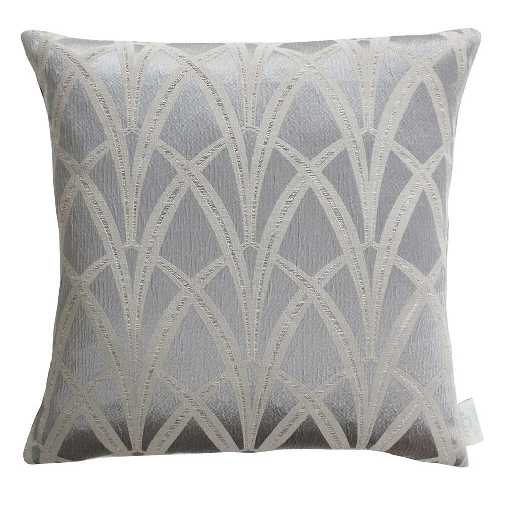 The Chateau Broadway Cushion - Silver - by The Chateau by Angel Strawbridge
