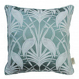 The Chateau by Angel Strawbridge The Chateau Deco Heron Cushion Teal - Product code: DEC/TEA/04343CC