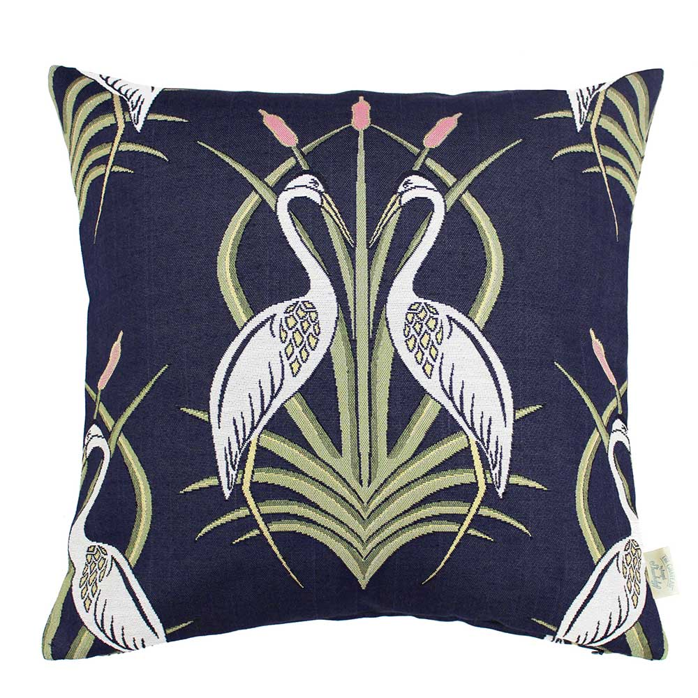 The Chateau by Angel Strawbridge The Chateau Deco Heron Cushion Navy Blue - Product code: HEM/NAV/04545CC