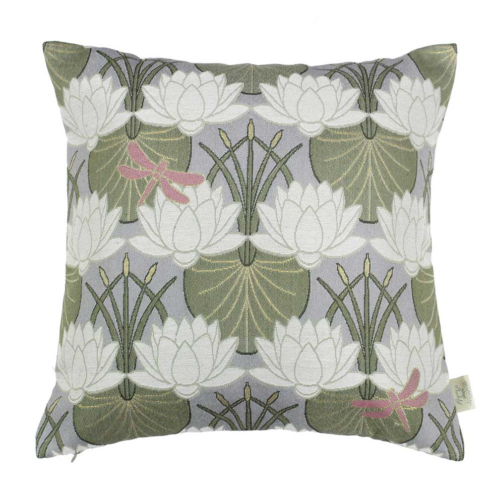 The Chateau by Angel Strawbridge The Chateau Deco Lilypad Cushion Moat Grey - Product code: LIP/GRE/04545CC