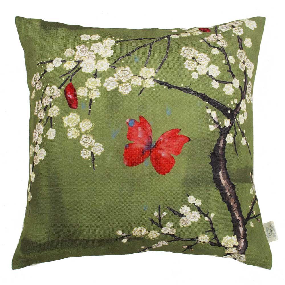 The Chateau Oriental Garden Cushion - Basil - by The Chateau by Angel Strawbridge