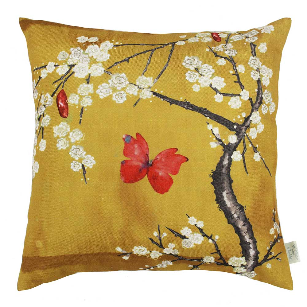 The Chateau by Angel Strawbridge The Chateau Oriental Garden Cushion Ochre - Product code: BLS/OCH/04545CC