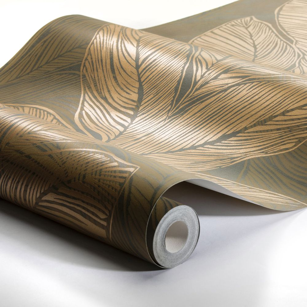 Urban Jungle Wallpaper - Green / Brown - by Engblad & Co
