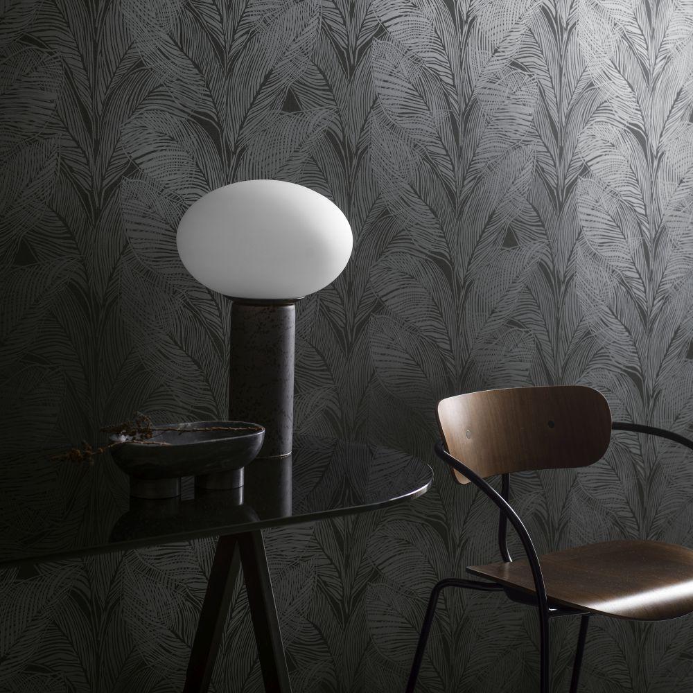 Urban Jungle Wallpaper - Black - by Engblad & Co