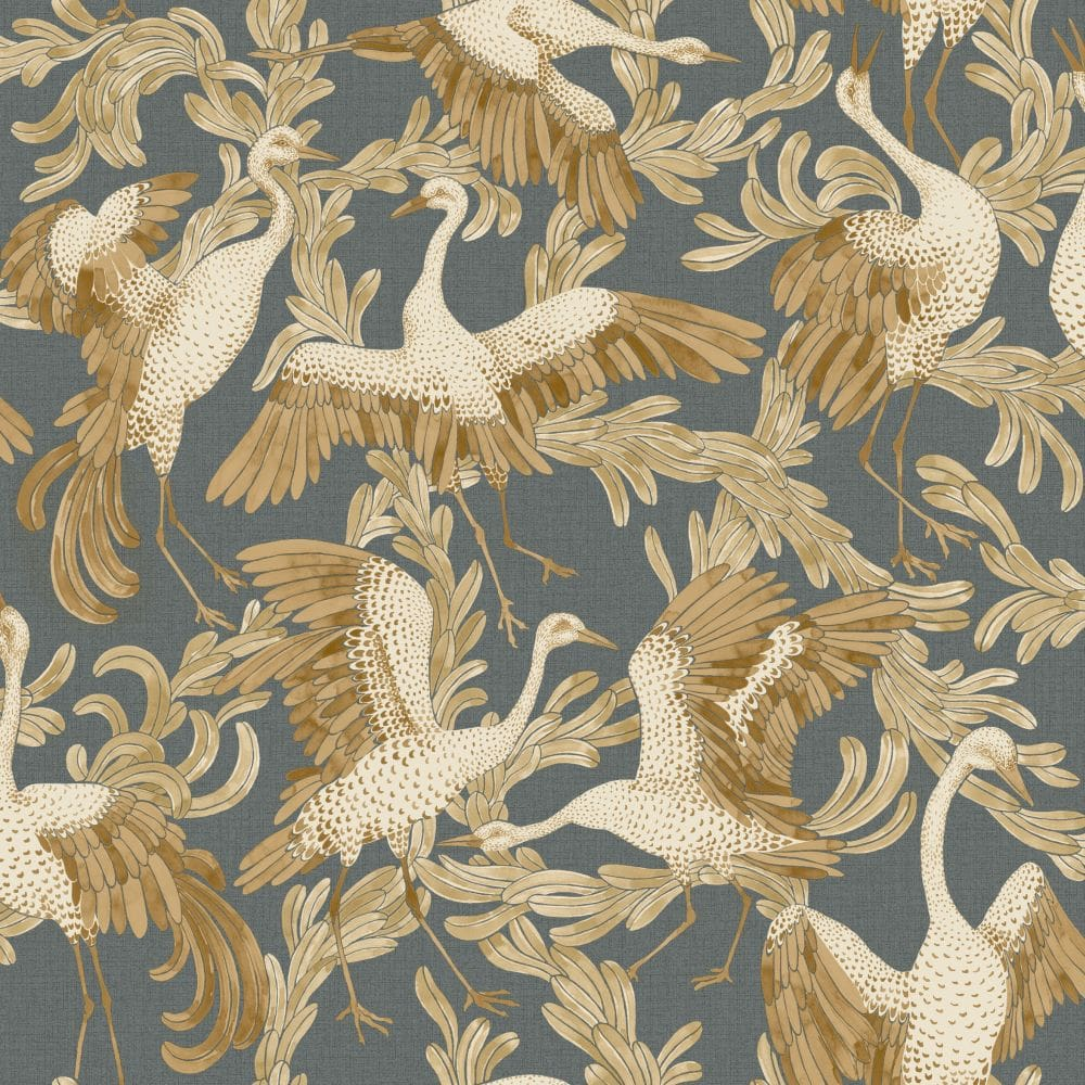 Engblad & Co Dancing Crane Special Edition Yellow / Black Wallpaper - Product code: 4581