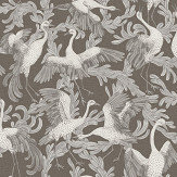 Engblad & Co Dancing Crane Special Edition White / Black Wallpaper - Product code: 4582