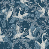 Engblad & Co Dancing Crane Special Edition Blue Wallpaper - Product code: 4583