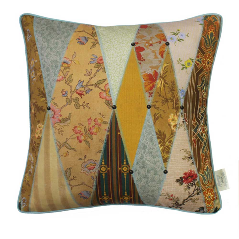 The Chateau Wallpaper Museum Cushion - Multi-coloured - by The Chateau by Angel Strawbridge