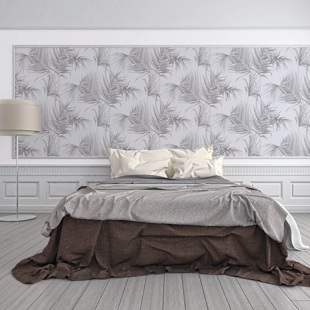Albany Palm Leaf Grey Wallpaper - Product code: 36505-4