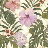 Albany Tropical Flower Pink / Green Wallpaper - Product code: 36518-1