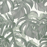 Albany Jungle Leaves Grey / Green Wallpaper - Product code: 36519-1