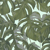 Albany Jungle Leaves Green / Blue Wallpaper - Product code: 36519-3