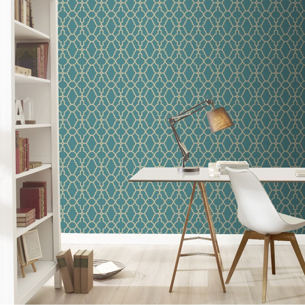 Casablanca Wallpaper - Teal - by Albany